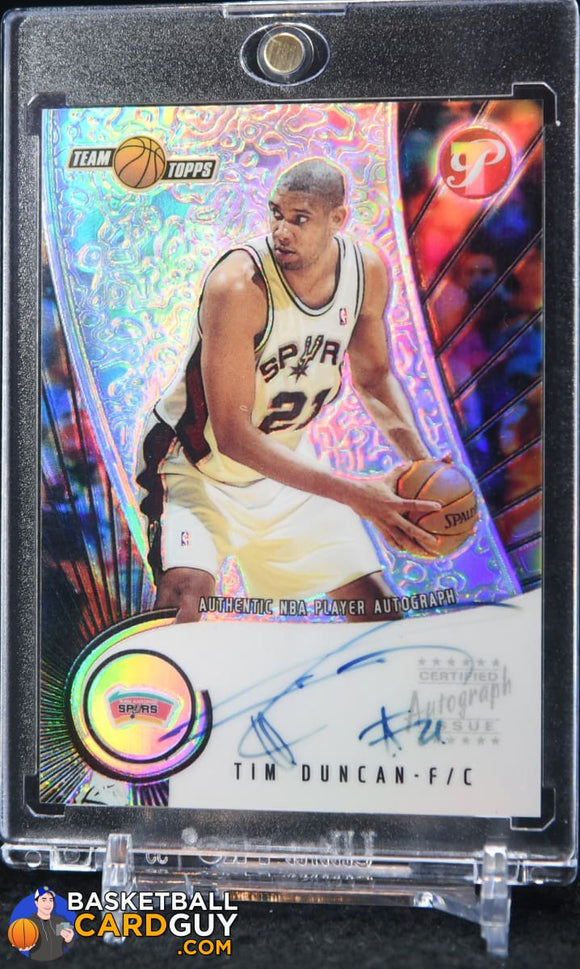 Tim Duncan 2001-02 Topps Pristine Autographs - Basketball Cards