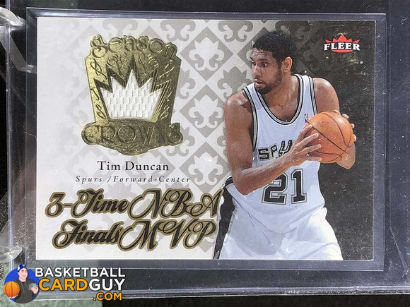 Tim Duncan 2007-08 Ultra SE Season Crowns Memorabilia - Basketball Cards