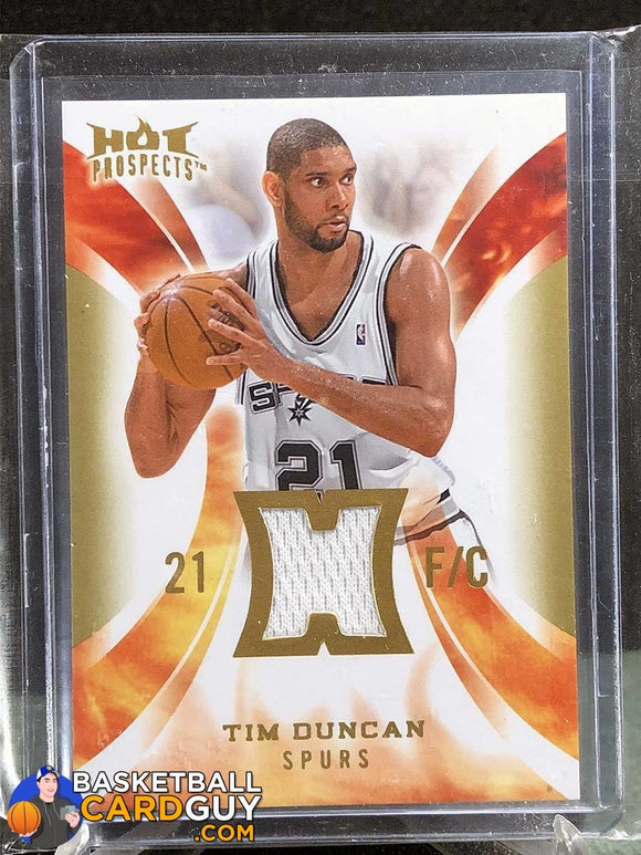 Tim Duncan 2008-09 Hot Prospects Hot Materials - Basketball Cards