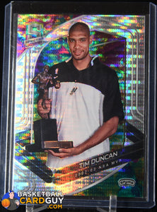 Tim Duncan 2019-20 Panini Spectra Celestial #161 basketball card, numbered, prizm