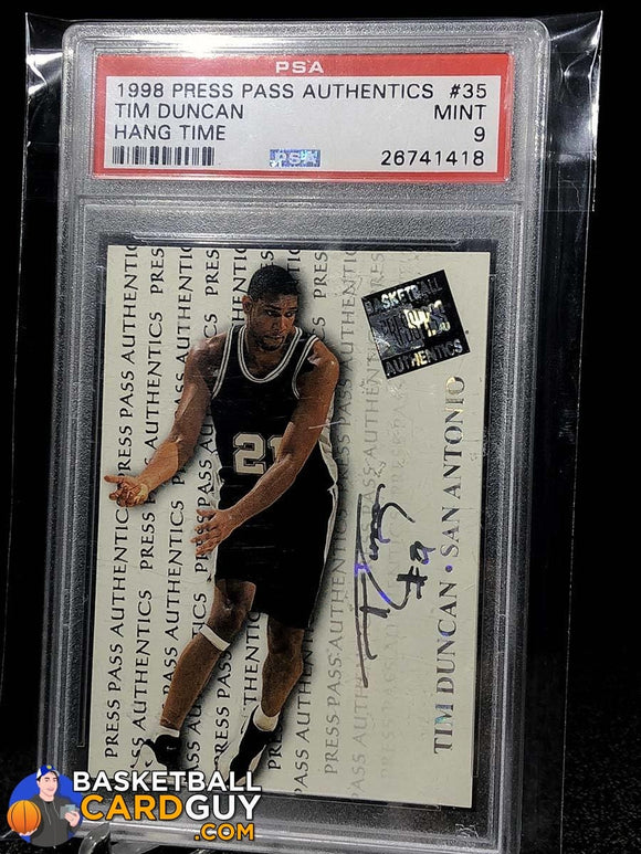 Tim Duncan Press Pass Authentics Rookie PSA 9 MINT - Basketball Cards