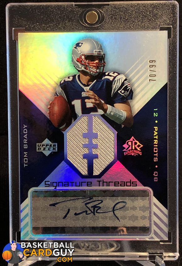 Tom Brady 2004 Reflections Signature Threads #STTB - Basketball Cards
