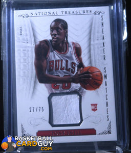 Tony Snell 2013-14 Panini National Treasures Sneaker Swatches /75 - Basketball Cards
