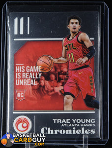 Trae Young 2018-19 Panini Chronicles #532 RC basketball card, rookie card