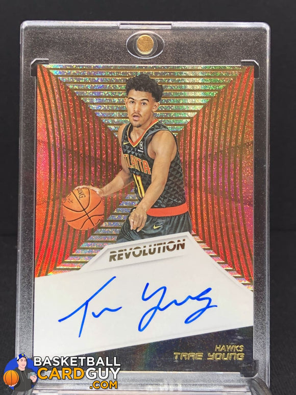 Trae Young 2018-19 Panini Revolution Rookie Autographs #5 - Basketball Cards