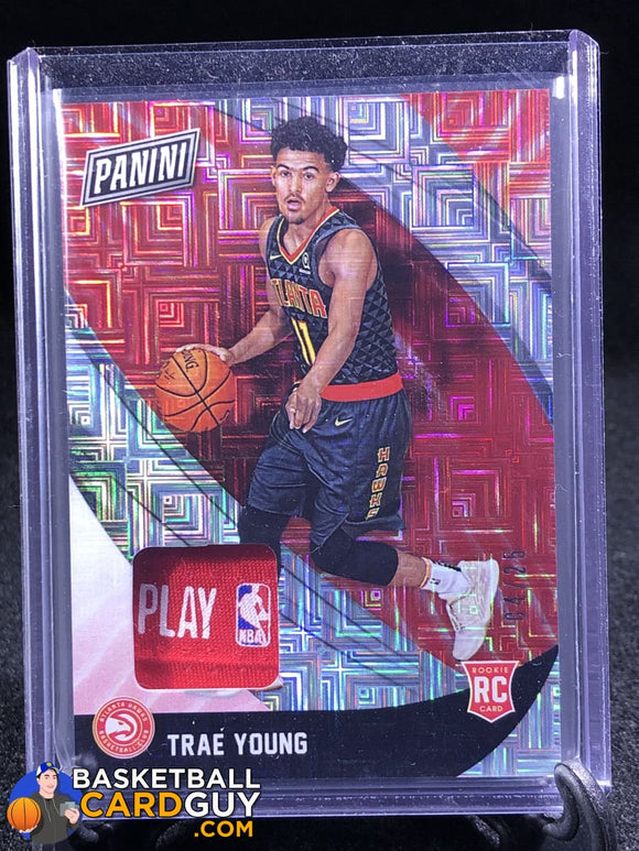 Trae Young RC 2018 Panini Black Friday NBA Logo Tag Patch - Basketball Cards