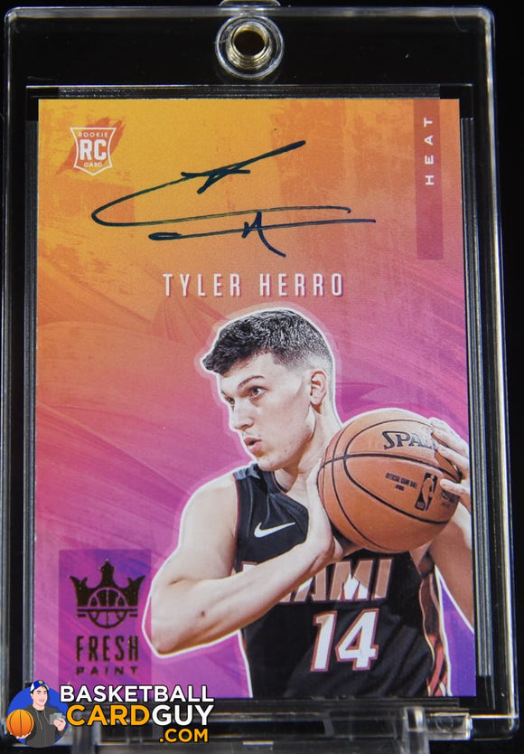 Tyler Herro 2019-20 Court Kings Fresh Paint Autographs #/149 autograph, basketball card, numbered, rookie card