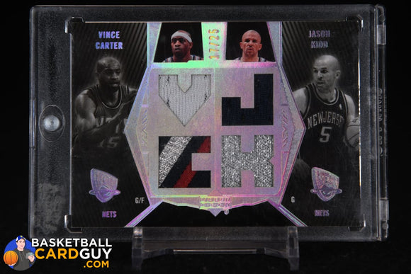 Vince Carter/Jason Kidd 2007-08 UD Black Patches Dual #DPKC basketball card, numbered, patch