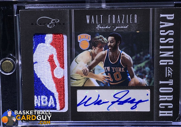 Walt Frazier/Chauncey Billups 2010-11 Elite Black Box Passing the Torch Signatures #/25 autograph basketball card numbered