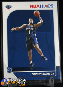 Zion Williamson 2019-20 Hoops #258 RC basketball card, rookie card