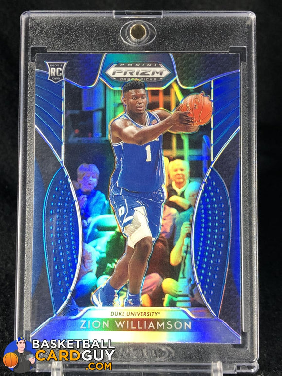 Zion Williamson 2019-20 Panini Prizm Draft Picks Prizms Blue #64 - Basketball Cards