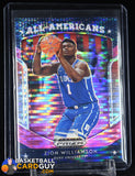 Zion Williamson 2019-20 Panini Prizm Draft Picks Prizms Pink Pulsar #100 All-Americans basketball card, prizm, rookie card