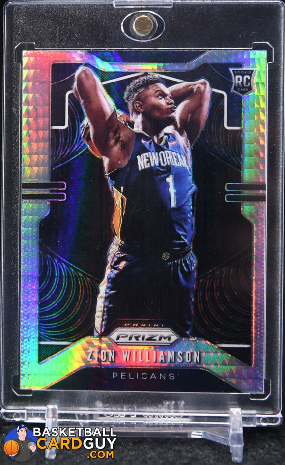 Zion Williamson 2019-20 Panini Prizm Prizms Hyper #248 (#2) - Basketball Cards
