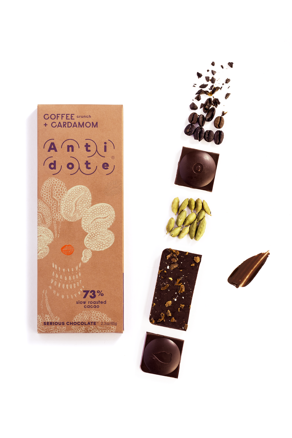 ANTIDOTE CHOCOLATE Coffee + Cardamom Bar