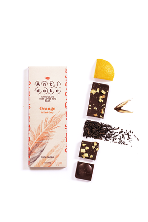 ANTIDOTE CHOCOLATE Orange & Earl Grey Bar