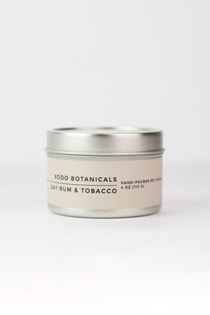 XODO BOTANICALS Bay Rum Travel Soy Candle