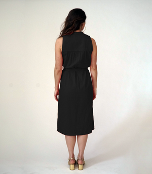 LOUP Carolyn Dress in Noir