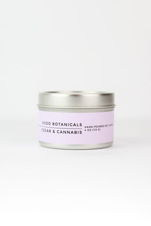 XODO BOTANICALS Cedar & Cannabis Travel Soy Candle