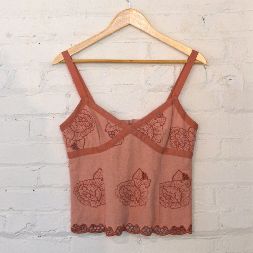 Nanette Lepore rose crop top