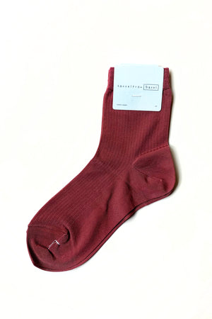 HANSEL FROM BASEL Mauve Bemberg Rib Sock