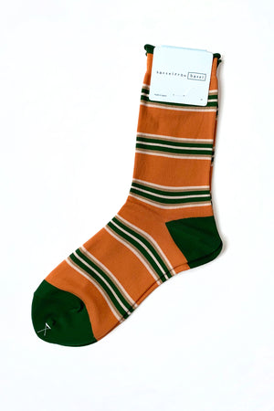 HANSEL FROM BASEL 70's Stripe Crew Sock