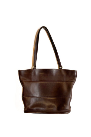 vintage Coach tribeca tote bag brown leather