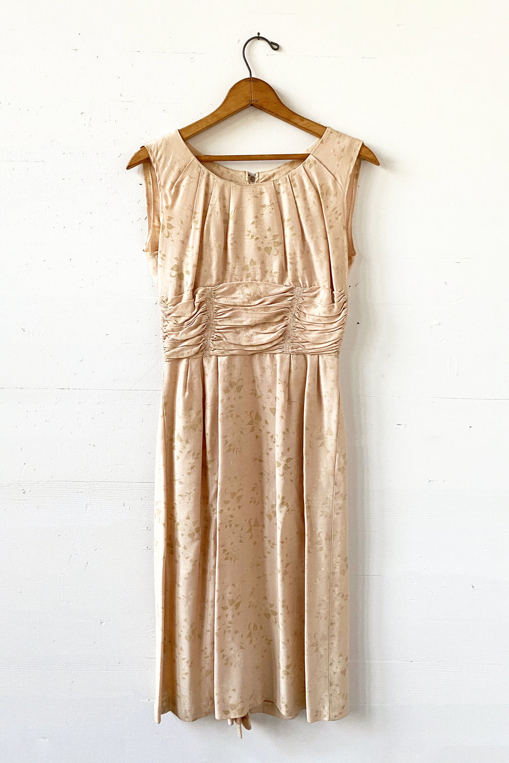 Vintage 50's peach sundress XS raw silk