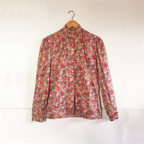 vtg Liberty of London floral blouse