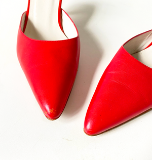 vintage SAVVY red mules Size 7