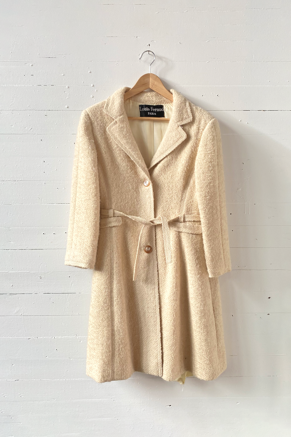 Louis Feraud Paris Wool Boucle Coat