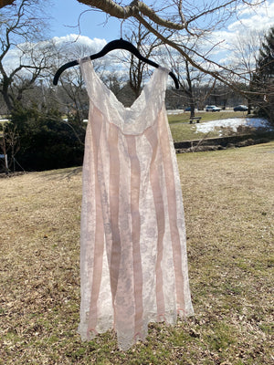 Vintage Pale Pink Lace Nightie