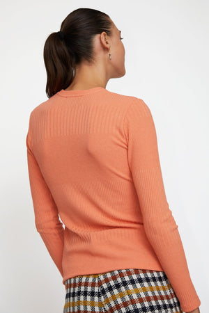 No.6 Stellan Crewneck Knit in Papaya
