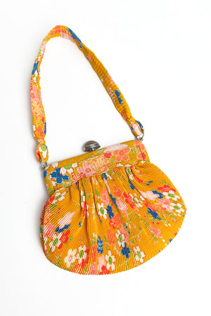 Vintage Batik Pleated Handbag