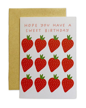 ALLIE BIDDLE Strawberry Greeting Card
