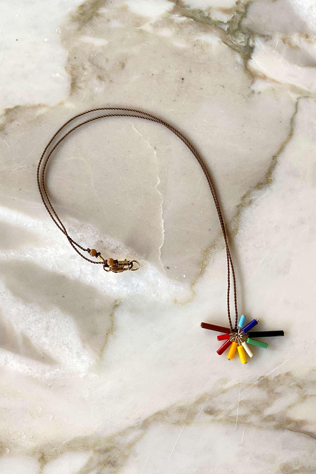 I. RONNI KAPPOS Rainbow Burst Necklace