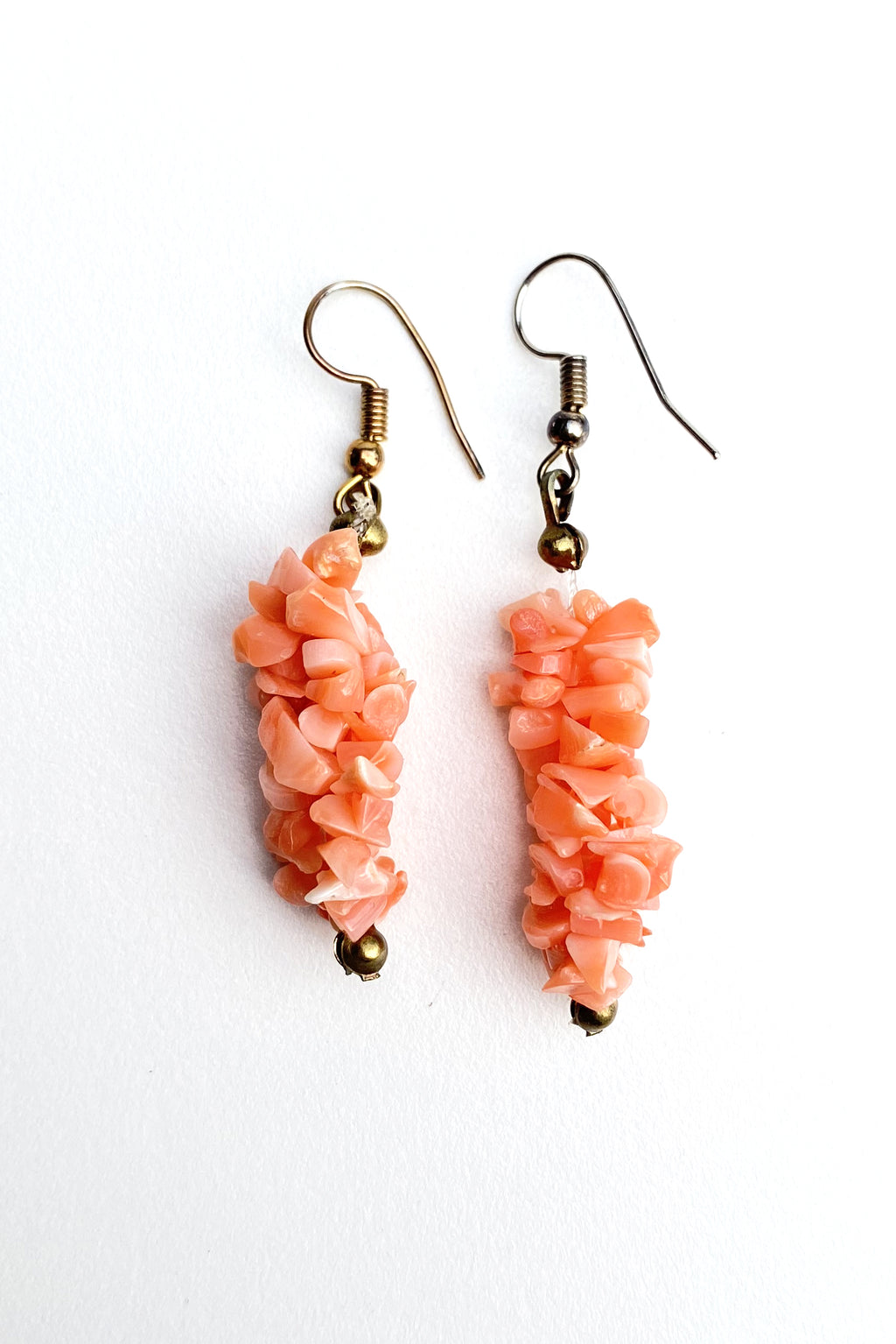 Vintage Branch Coral Drop Earrings