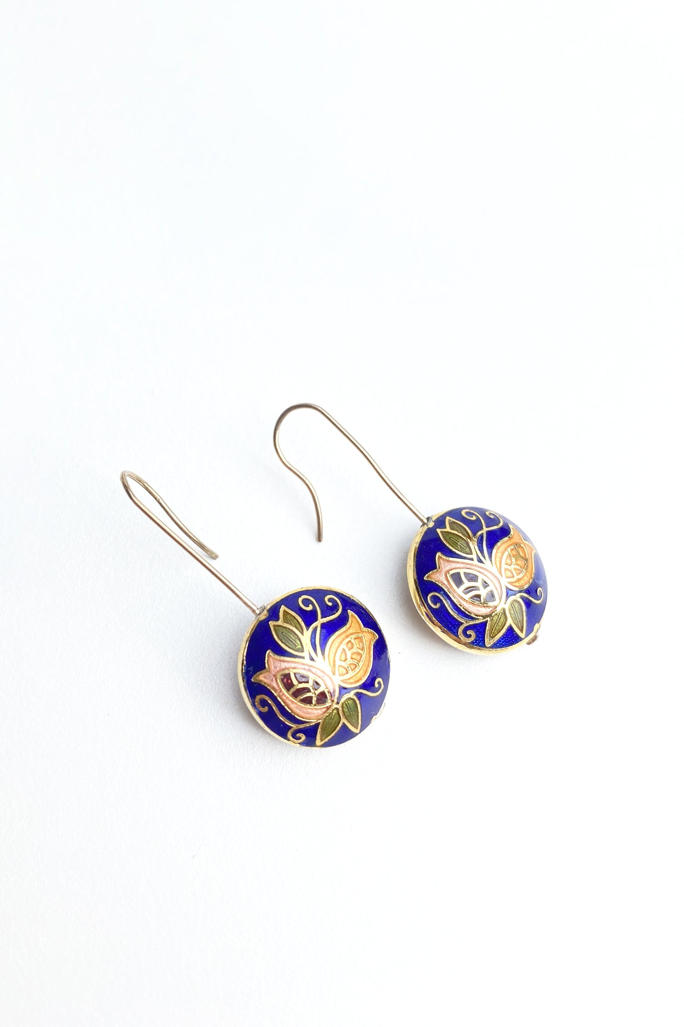 Cloisonne Enamel Drop earrings