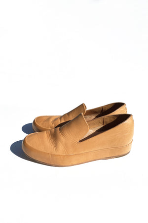 Leather Feit Loafers