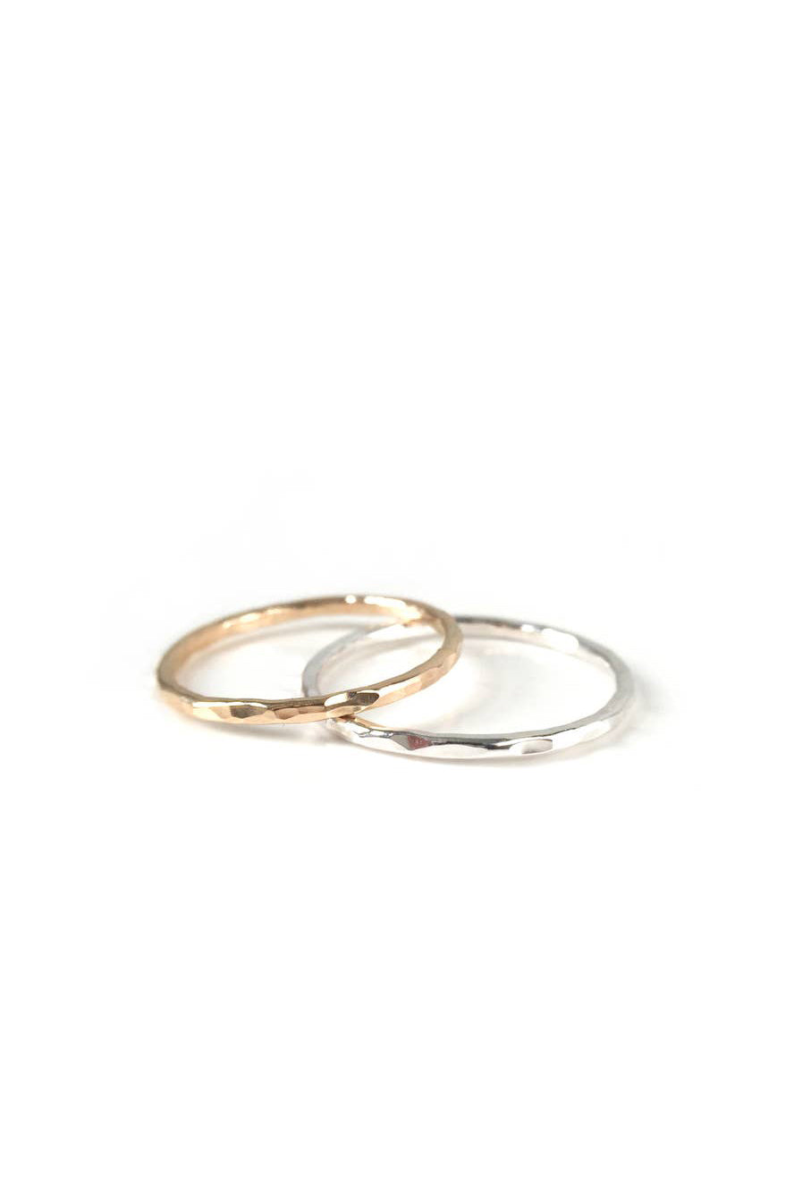 GOLDELUXE JEWELRY Hammered Ring