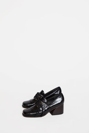 No.6 Milo Oxford in Ink Leather