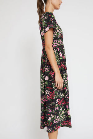 No.6 Maeve Dress in Black English Garden