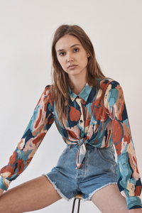 ROLLAS //  Painted Tulip Shirt