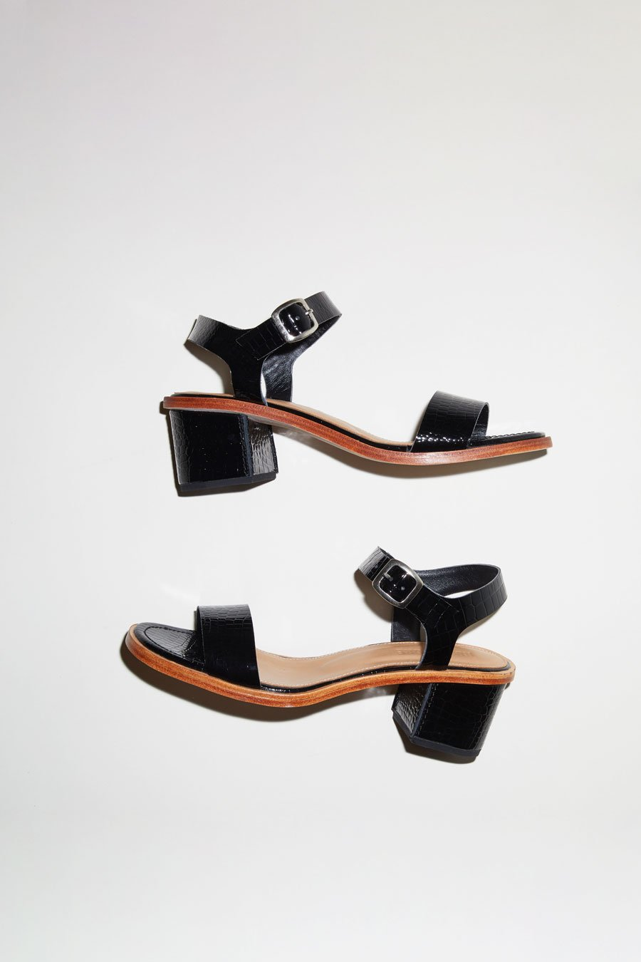 No.6 Palermo Sandal in Black Croc