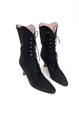Vintage Phyllis Poland Lace Up Boots
