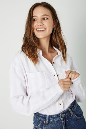 ROLLA'S Slouch Stripe Shirt in Heather