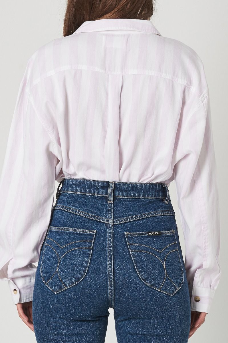 ROLLAS Slouch Stripe Shirt in Heather