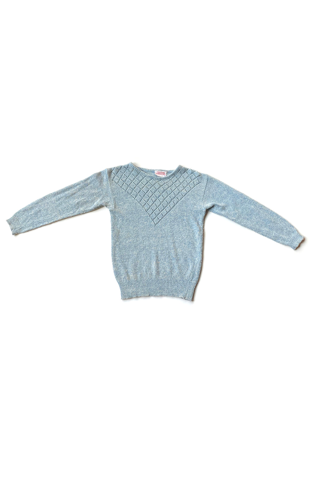 blue knit western connections vintage sweater