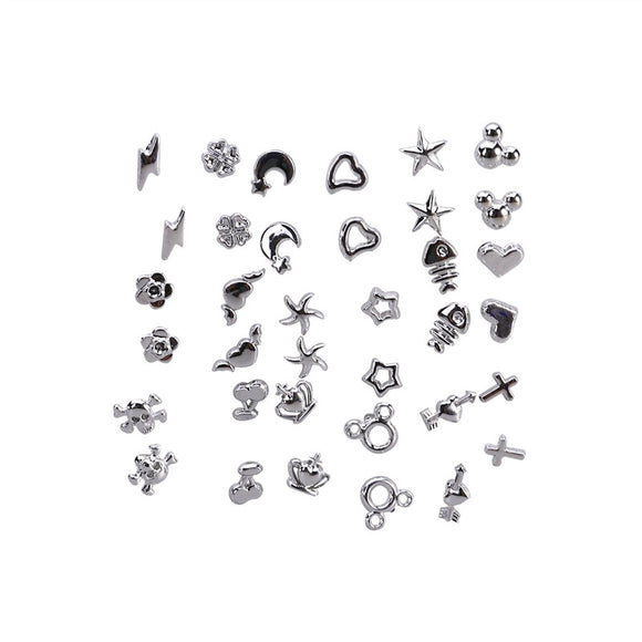 18 Pair of Mixed Styles Silver Earrings Ear Studs