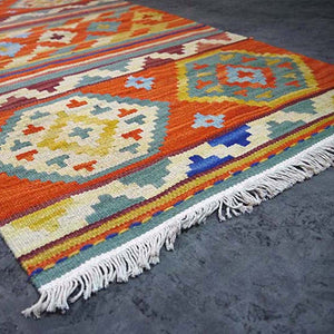 100% Turkish Wool Hand Woven  Hallway Carpet