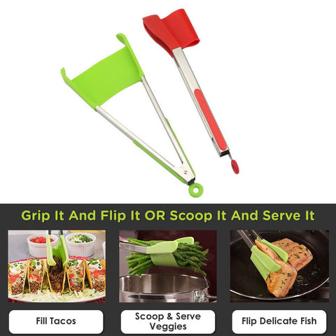 2-in-1 Spatula Tongs-SAVE 50% TODAY